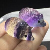 Rainbow Color Fluorite Hedgehog Stone Natural Quartz Crystal Healing Gemstone ~