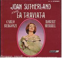 Verdi: La Traviata / Pritchard, Sutherland, Bergonzi, Merrill - LP London Ffrr