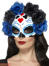 Smiffys 44640 Day of The Dead Eye Mask (one Size)