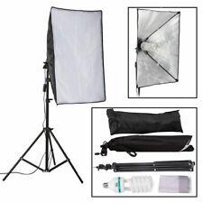 150W Photography Studio Softbox + Continuous Lighting Blub + 2m Light Stand Kit