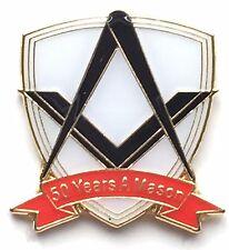 Pack of 12, 50 YearS a Mason Masonic Commemorative Lapel Pin Badge No G