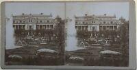 Fotografia Un Grand Edificio Casinò? Giardino Stereo Vintage Citrato