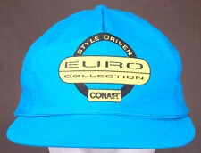 Vtg CONAIR Hat-Euro Collection Style Driven-Bright Blue-Rope Bill-Snapback-Cap