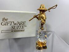 7312e8b96afb Swarovski Trimlite Giftware Gold Sportsman Fisherman With Clear Crystal