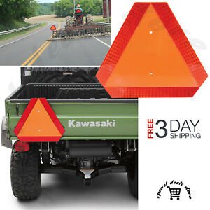 Slow Moving Vehicle Tractor Sign Alert Golf Cart UTV Warning Reflective Triangle