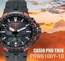 Casio Protrek New PRW-6100 Series Triple Sensor Watch PRW6100Y-1D