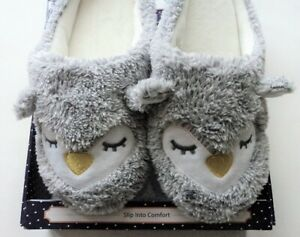 Character SLIPPERs PENGUIN FACE Slip On Flats Size Small Medium 6-8 - FLASH SALE