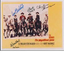 The Magnificent Seven 7 ELI WALLACH Charles Bronson Robert Vaughn cast signed x4