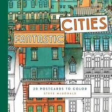 Fantastic Cities: 20 Postcards to Color