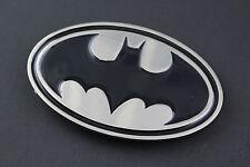 BATMAN Negro Plata Metal Plana Hebilla de cinturón DC Comics película