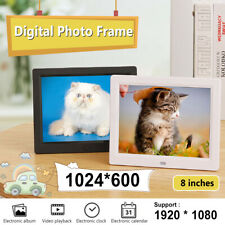 8'' TFT LCD Digital Photo Frame Electronic Picture Album MP3 Video Player Clock
