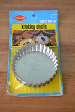 Vintage Willow Aust Pie Tart Quiche Flan Fluted Baking Tins Set 6 Small 10 cm
