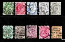HICK GIRL- OLD CLASSIC USED INDIA STAMP QUEEN VICTORIA & KING EDWARD VII.  X5083