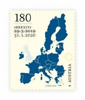 AUSTRIA 2020 Brexit stamp **SOLD OUT WITHIN DAYS OF ISSUE**, fine, fresh, MNH