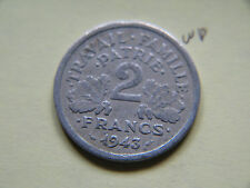 1943, 2 Francs Etat Francais, France, French