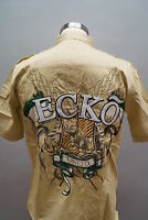 "NWT Men's Ecko Unltd Coat Of Arms Woven Shirt Tee Size S/L/XL/3XL ""PalKhak 02498"