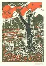 NOVEMBER - Signierter OriginalHolzSchnitt - von ZITZEWITZ zu FLAUBERT 1980