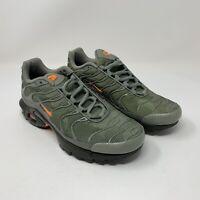 Nike Air Max Plus TN Tuned Youth Orange Camo Olive Black Size 6Y AO5435-001