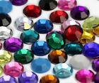 8mm SS40 Assorted Acrylic Rhinestones Flat Back Plastic Gems Crafts - 400 Pieces