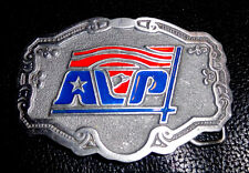 ALP Belt Buckle High Relief Enamel Pewter Metal Hitline USA American Labor Party