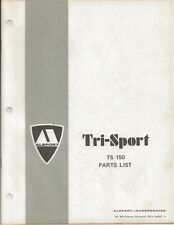 Reproduction Alsport Tri-Sport Parts List Manual TS150