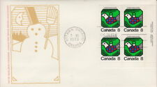 CANADA #626 8¢ CHRISTMAS DOVE LR PLATE BLOCK FIRST DAY COVER