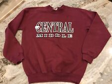 Youth L Central Middle School Sweatshirt School Uniform Long Sleeve Maroon