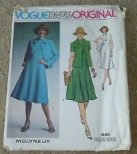 Vintage Vogue Paris Molyneux dress jacket pattern Size 14 Bust 36 Hip 38