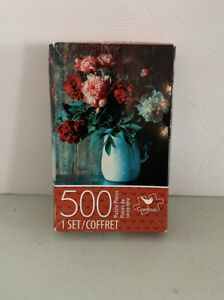 Cardinal® Peonies In Jug 500 Piece Puzzle – Box Open, Bag Sealed. See Pics