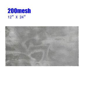 200 Mesh 75Micron 304 Stainless Steel Pollen Dry Ice Filtration Screen 12x24in