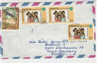 Jamaica 1979  Airmail to Germany Mostly Xmas 79 Family Stamps Cover Ref 29037