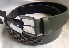 """Surplus Charcoal Gray Checkered Row Stud Belt Size Small 30""""-32""""-New"""