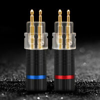 Cy_ 2x Earphone Cable Pin Plug Connector for Sennheiser HD650 HD600 HD580 HD25 S