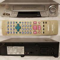 Sharp VHS VCR Player VC-MH713 Video Recorder PAL + Remote Control Vintage Retro