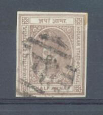 Indian State Indore 1889 1/2 a sg.6b Imperforate used