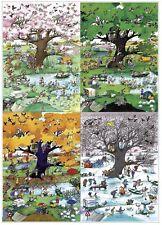 NEW! Heye 4 Seasons by Blachon 2000 piece comic cartoon jigsaw puzzle
