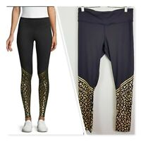 [ ROBERTO CAVALLI Sport] Womens Cheetah Print Leggings | Size L or AU 14 / US 10