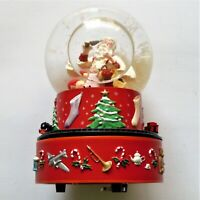 Hallmark Coca-Cola Santa Musical Christmas Snow Globe With Moving Train NIB