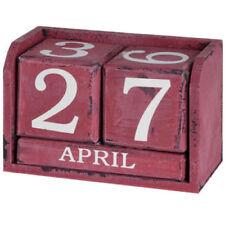 Red Distressed Perpetual Calendar ~ Desktop Calender