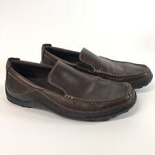 Clarks Mens 11.5 Brown Leather Slip On Loafer S