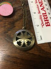 Bronze Flat Flower Diffuser Necklace~w/FREE young living essential Oil sample!!!