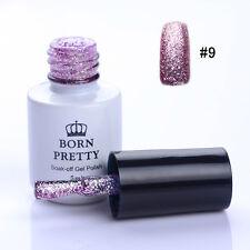 5ml BORN PRETTY Soak Off UV/LED Gel Polish Glitter Sand Platinum Manicure #9