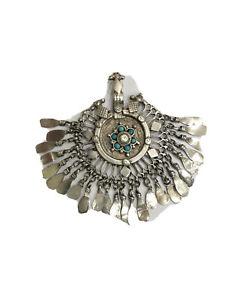 Vintage kuchi tribe silver pendant
