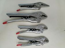CH HANSON 4 PIECE CURVED AND STRAIGHT JAW LOCKING PLIERS SET - FREE SHIP