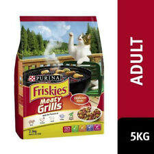 Friskies Adult Meaty Grills 5kg Purina Balanced Premium Dry Cat Food Meal NEW