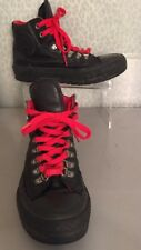 Men's 5 Black leather Converse High tops