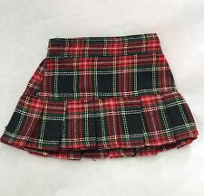 Red Plaid Pleated Skirt Fits 18 inch American Girl Dolls