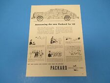 1943 Print Ad, Packard Automobiles, car, Precision-Built Power, PA015