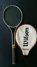 """WILSON T2000 Vintage Metal Tennis Racket Racquet with Cover 4 5/8"""""""