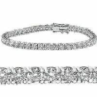 "10 ct Diamond Tennis Bracelet 14k White Gold 7"" Double Lock Clasp"
